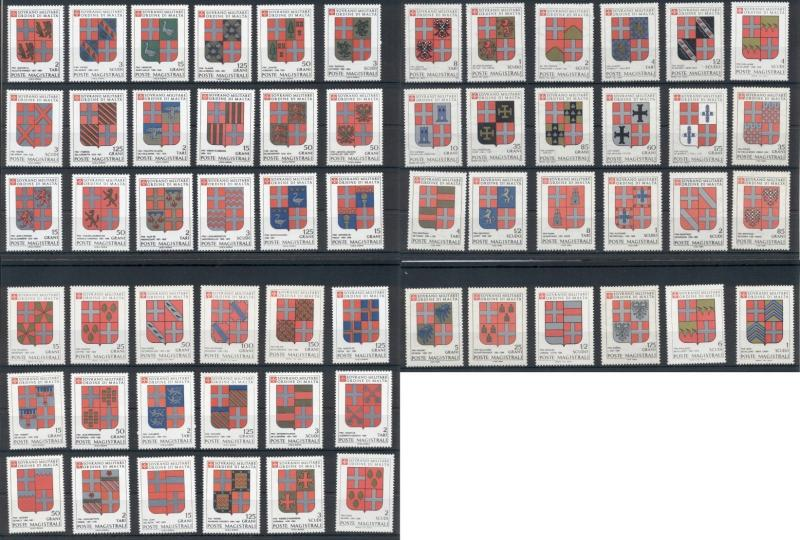 Coats of Arms Sovereign Order of Malta 60 MNH stamps set