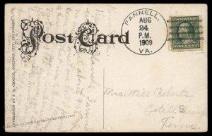 Virginia 1909 Pannell VA DPO Open 1909-11 Helbock R5 Cover 92503