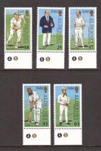 Alderney  #101-105   MNH  1997    cricket club