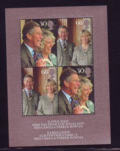 Great Britain Sc 2279 2005 Royal Wedding Prince Charles stamp sheet mint NH