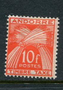 French Andorra #J38 Mint