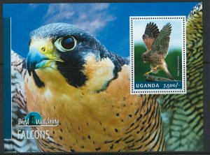 Uganda Scott 2123 MNH! Falcons! Souv. Sheet!