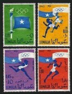 Somalia 248-249,C73-C74,MNH.Michel 8-11. Olympics Rome-1960.Flag,Running.