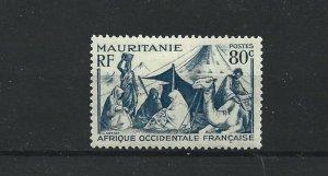 MAURITANIA  1938 - 40  80C  BLUE             MH