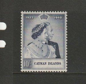 Cayman islands 1948 Wedding 10/- MM SG 130