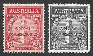 Doyle's_Stamps: 1935 VF-XF Australian ANZAC Issues Scott  #150* to #151*