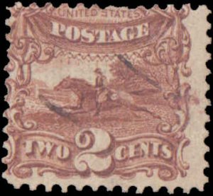 United States #113, Incomplete Set, 1869, Horses, Used
