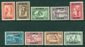 Ruanda-Urundi #B3-B11  Mint F-VF NH  Scott $160.00