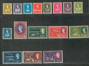 Kenya Uganda+Tanzania Sc#120-135 M/NH/VF, Cv. $72.55