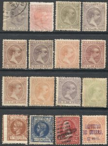 PUERTO RICO Spanish Colonies US Possession, mostly mint group of 16 stamps