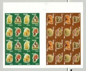 Abkhazia (Georgia) 1996 Mushrooms 2v M/S of 16 on 1v Imperf Collective Proof
