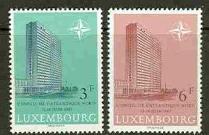 Luxembourg # 452-53 NATO Building  (2) Mint NH