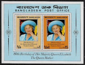 Bangladesh #198a MNH S/Sheet - Queen Mother's Birthday