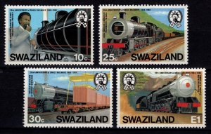 Swaziland 1984 20th Anniversary of Swaziland Railways, Set [Unused]