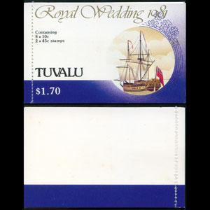 TUVALU 1981 - Scott# 157A-60A Booklet-R.Wedding NH