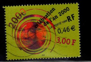 FRANCE Scott 2733 Celebrating the new year 2000  Used stamp