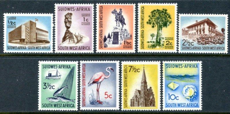 SOUTH WEST AFRICA Sc#266-70, 272-75 1961 Pictorial Defins OG Mint Hinged