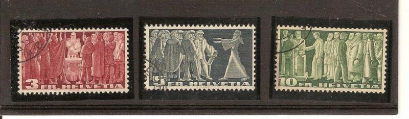 SWITZERLAND STAMPS USED YR1938 SCOTT#244-246 LOT#362