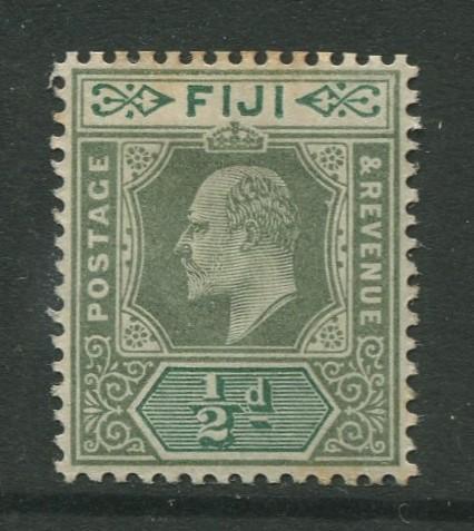 Fiji - Scott 59 - KEVII - Definitive - 1903 - MVLH - Single 1/2d - Stamp