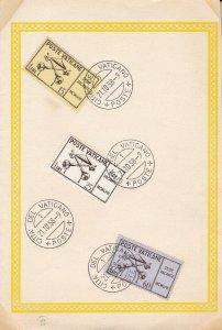 1957 Vatican/Vatican City, N°247/249 Used FDC Su Card