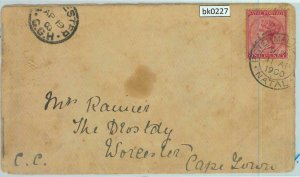 BK0227 - NATAL / TRANSVAAL- POSTAL HISTORY - COVER to WORCHERSTER Cape Town1900