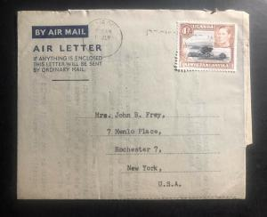 1950 Nairobi Kenia KUT Air letter Cover to New York USA