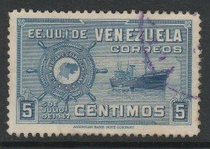 Venezuela 1948-50 5c used South America A4P53F53