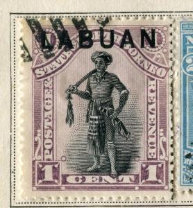 NORTH BORNEO;   LABUAN 1894 early classic  issue fine used 1c. value