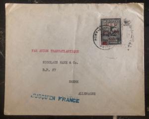 1949 Port Prince Haiti Airmail Cover To Bremen Germany Via France