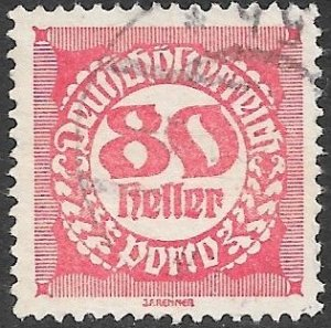 Austria Postage Due Scott # J83 Used. Free Shipping for All Additional Items.