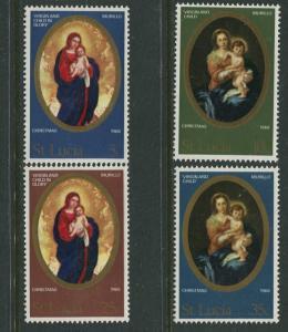 St. Lucia - Scott 237-40- Christmas -1968 - MNH -Set of 4  Stamp