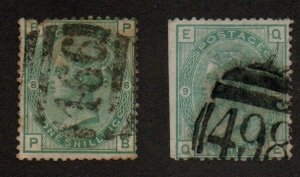 Great Britain 64a Plates 8-9 Used