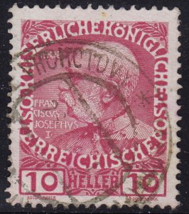 Austria - 1908 - Scott #115 - used - VRCHOTOVY pmk Czech Republic