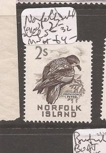 Norfolk Island 1960 2/- Bird SG 32 MNH (3dbb)