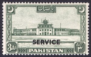 Pakistan 1949 3a Olive Green OFFICIAL SG O30 Sc O30 VLMM/MVLH Cat £40($50)