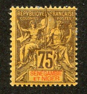 Senegambia and Niger, Scott #12, Unused, Hinged