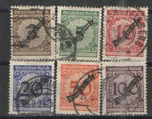 Germany - Inflation  Era 1923 Sc# O47-253 Used VG  Official set 1923
