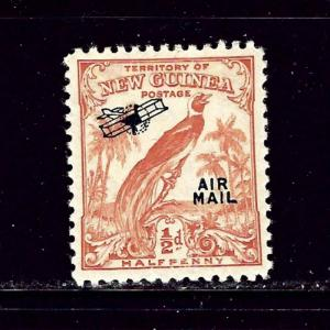 New Guinea C14 MH 1931 overprint pencil marks on gum