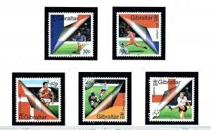 Gibraltar 832-36 MNH 2000 European Soccer    (KA)