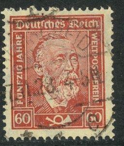 GERMANY 1924-28 60pf CHALKY PAPER Dr Heinrich von Stephan UPU Issue Sc 342a VFU