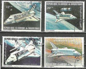 MAURITANIA 1981 SPACE SHUTTLE COLUMBIA Scott #C202-C205 Airmails WYSIWYG Lot