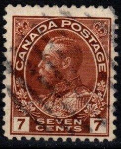Canada #114  F-VF Used  CV $10.00 (X9350)