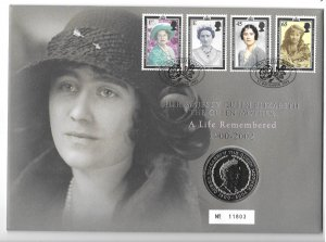 GB 2044-47  2002  Comm. cover  w/ 5 lb coin
