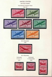 USA 1904/2008 Airmail Aviation M&U Collection(100+Items) (NT 5516
