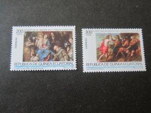 Equatorial Guinea 1993 Sc 176-7 Christmas Religion set MNH