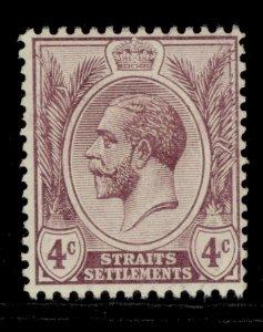 MALAYSIA - Straits Settlements GV SG197, 4c dull purple, LH MINT.