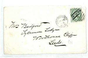 CEYLON Dodanduwa GB Yorkshire Leeds Cover {samwells-covers} 1884 CW86