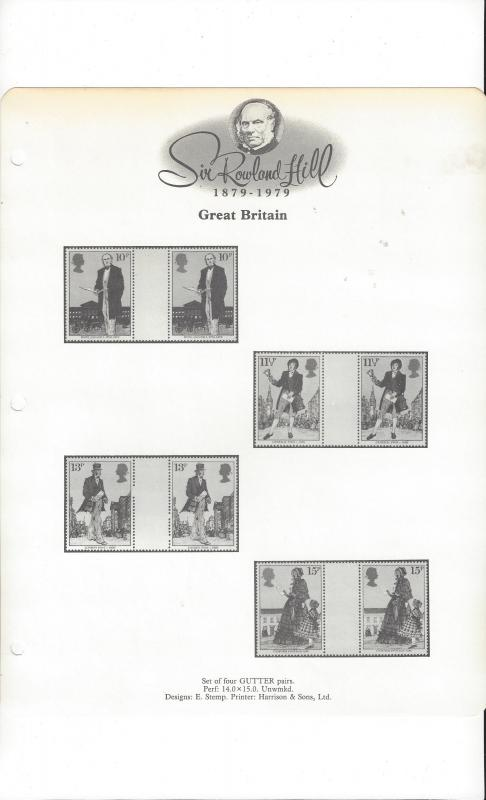 Rowland Hill, 1979 Topical Album Pages.  85 Different.