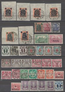 COLLECTION LOT # 5363 DANZIG 37 STAMPS 1920+ CLEARANCE
