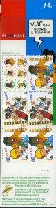 NETHERLANDS 1058a COMPLETE BOOKELT SCV $5.25 BIN $2.75 CARTOON